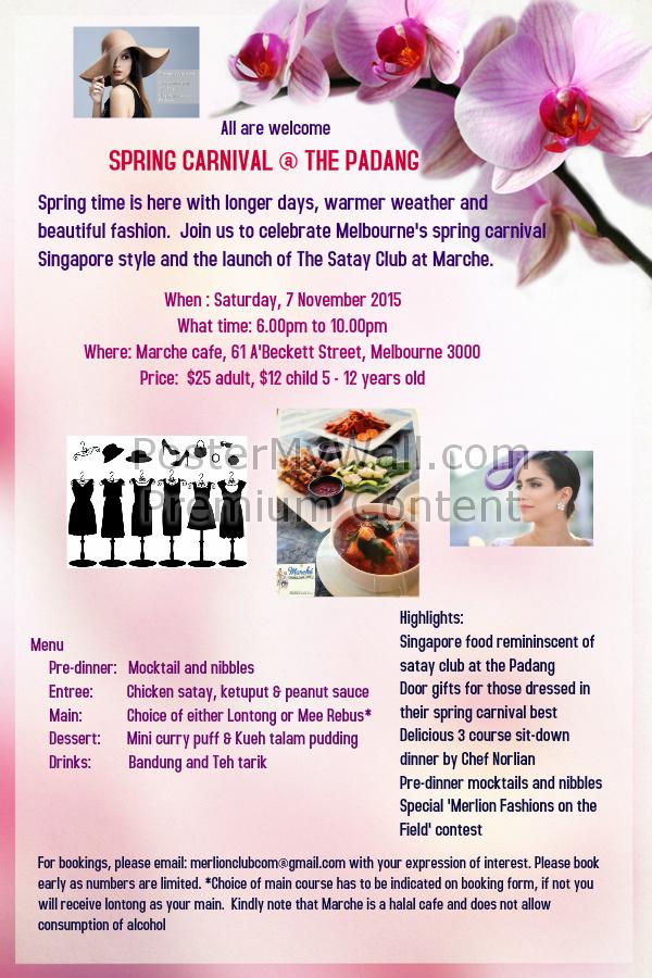 spring carnival at the padang flyer