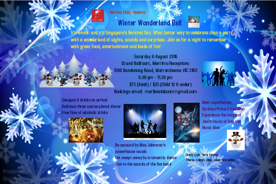 Winter Wonderland Ball flyer
